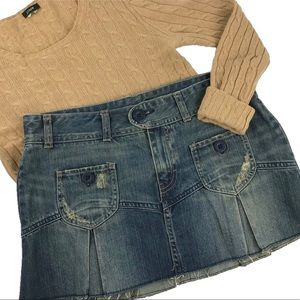 AEO-NWT Denim Mini Skirt with Pleats (356)